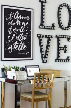 Typography  L'amor che move il sole e l'altre by ShufflePrints