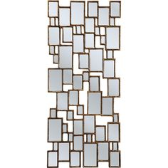 Grosser Spiegel aus vielen kleinen Rechteckspiegeln - Wer sagt eigentlich, dass ein Spiegel aus einer einzigen spiegelnden Fläche bestehen muss? Viele sagen das   es ist eine Konvention! Aber gutes Design bricht Konventionen bisweilen:...