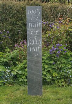 Caroline Webb Lettercarver in wood and stone: Garden & landscape