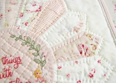 """A Word About Hand Quilting, If You Please... - Pretty by Hand - Pretty By Hand  Free embroidery pattern """"Do small things with great love"""" at http://nanacompany.typepad.com/nanacompany/2012/05/do-small-things-with-great-love-free-pattern.html"""