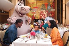 Dine onboard with your favorite characters from the DreamWorks films!