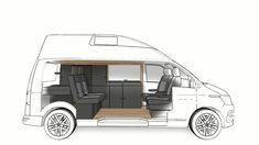 Camping Vans, Van Camping, Vw T5 Camper, Truck Camper, Vw Transporter Van, Volkswagen, Vw California T6, Caravan Home, Cargo Van