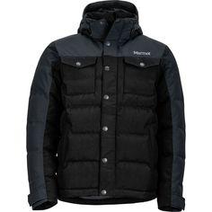 Marmot - Fordham Down Jacket - Men's - Black Mens Boots Fashion, Fashion Socks, Fashion Shirts, Men's Fashion Brands, Fashion Models, Fashion Blogs, Fashion Advice, Fashion 2017, Fashion Hashtags