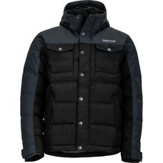 Marmot - Fordham Down Jacket - Men's - Black Men's Fashion Brands, Fashion Models, Mens Fashion, Fashion Blogs, Fashion Advice, Fashion 2017, Fashion Hashtags, Trench Coat Men, Rugged Look