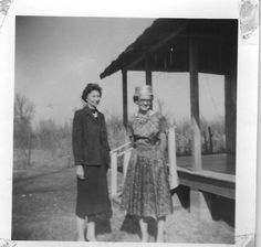 1959 picture Ester Foust and Norma Foust Goodart,Cherry Valley ,Ark