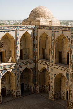 Ulughbek (Ulugh Beg) Medressa, Bukhara (Buxoro, Бухоро, بُخارا), Uzbekistan (O'zbekiston, Ўзбекистон) by Loïc BROHARD, via Flickr