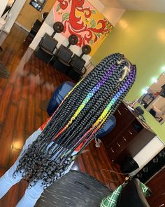 African Braids Hairstyles 420453315212797017 - Source by nylaanylaa Box Braids Hairstyles, Braided Hairstyles For Black Women, Baddie Hairstyles, Hairstyles 2018, Black Girl Braids, Braids For Black Hair, Braids For Kids, Girls Braids, Colored Box Braids