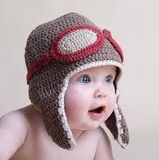aviador gorros tejidos para bebe