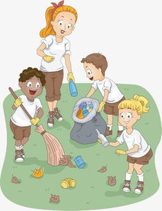 People cleaning the environment clipart – Animal Life
