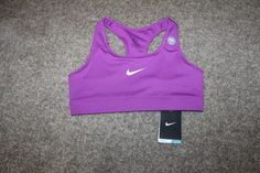Nike Pro Victory Compression Sports Bra Purple White Medium M 375833-556 #Nike #SportsBrasBraTops