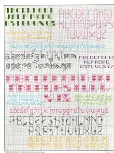 Gallery.ru / Фото #2 - 705 more backstitch alphabets - mornela