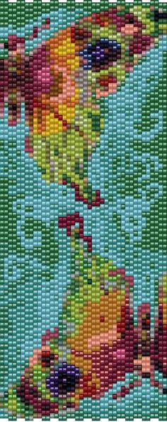 Even count peyote stitch for advanced beaders. This pattern is worked in 2 drop…