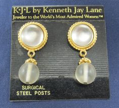 Faux opal and frosted beads look like dangling ice for your ears to wear with your lovely cold weather fashion.