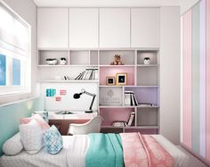 Exciting Teen Girl Bedrooms demo 2049403604 - A dreamy set of teenage girl room tactic and examples. For more simple decor knowledge please pop to the image today. Cute Bedroom Ideas, Girl Bedroom Designs, Girls Bedroom, Home Bedroom, Bedroom Decor, Bedroom Apartment, Apartment Ideas, Home And Deco, Dream Rooms
