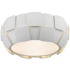 Access Lighting Layers 4-light 14-inch Flush Mount, White