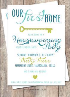 Housewarming Party Invitation - Modern Rustic, Minimalist Invite ...