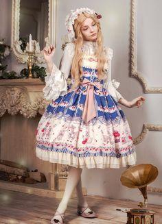 Neverland Lolita -Deer and Bunny's Cherry Garden- Sweet Lolita JSK Version II