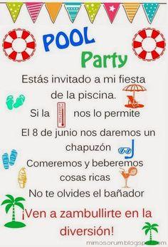 8 ideas fáciles y low cost para celebrar una fiesta de verano, con o sin piscina. Pool party ideas.