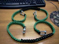 GREEN!! paracord grab handles