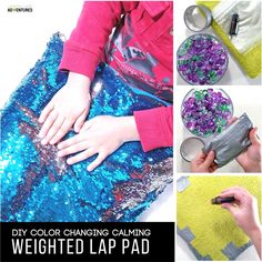 Sew Weighted Blanket Super Simple Calming Weighted Lap Pad for the Kid that Can't Sit Still - Looking for the perfect tool for your kid that can't sit still? This super simple calming weighted lap pad will calm your child in no time! Sensory Tools, Autism Sensory, Sensory Diet, Sensory Activities, Weighted Blanket Diy, Lap Blanket, Angry Child, Mermaid Diy, Mermaid Pillow