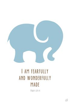 I am fearfully and wonderfully made... (blue) #lostbumblebee