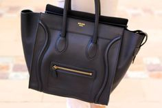 Celine Mini Luggage in black, about $2400 and up. Buy at a brick and mortar.