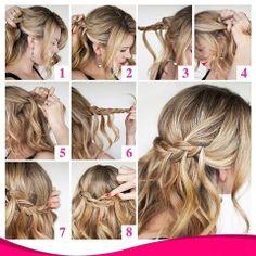 Que tal apostar em um penteado do tipo princesa para o dia de hoje? Separamos um passo a passo de como fazer um cabelo meio preso/meio solto! Confira: