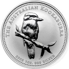 1 oz BU-ST Silver with round 2008 Australian Kookaburra PM capsule