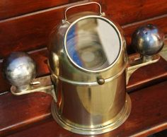 Ships binnacle compass Royal Navy Vintage Compass, Royal Navy, Kettle, Nautical, Antiques, Tableware, Bridge, House Ideas, Ship