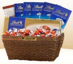 free lindt chocolate gift basket #RoseVoxBox @Lindy Holzknecht Chocolate @Influenster #LindtTruffles