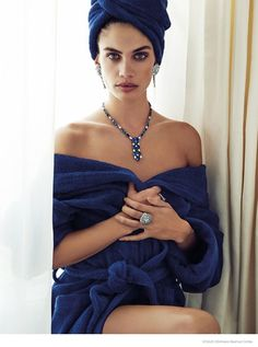 I'm thinking she could be soft summer.... Sara Sampaio Stuns in Jewelry Looks for Alvaro Beamud Cortes in Vogue Spain