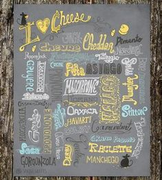I Love Cheese Art Print