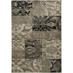 Rizzy Home BS3651 Bayside Power Loomed Polypropylene Rug, Multicolor