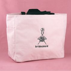 Bridesmaid Pink Tote Bag