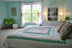 New Every Morning: Preteen Room Reveal; Wall Color Tame Teal SW