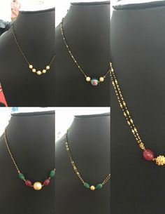 Light Weight Black Beads Mangalsutra Chains