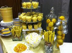 All yellow & white food
