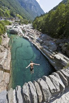 Valle Verzasca, in the south of Switzerland, has these crystal clear streams. One of my favourite places