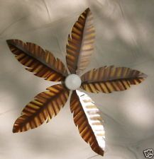 PALM LEAF CEILING FAN - HAMPTON BAY - $100 (WILLOW GROVE ...