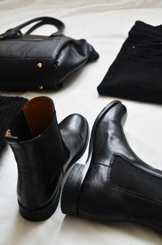winterstiefel damen schwarz ledertasche
