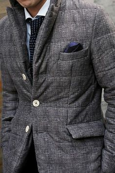 Diggin' the quilted blazer