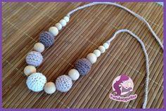 Collar Bolas Marrón-Beige http://www.portakanguritos.com/portakanguritos/c313217/collares-lactancia-y-porteo.html nursing necklace - breastfeeding necklace - teething necklace