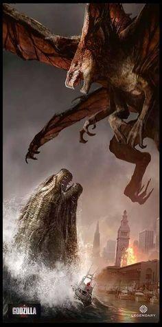 Epic Godzilla vs. Muto Panel