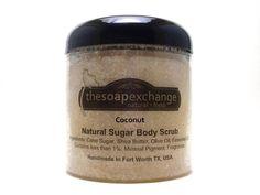 Coconut Body Scrub, Sea Salt Scrub, Sugar Scrub, Handmade Scrub, The Soap Exchange on Etsy, $9.99