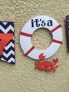 Ahoy its a Boy banner babyshower Anchor by BBAHomemade