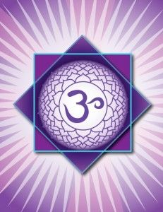 """Crown Chakra: """"Sahasrara"""" Location: Top of the head Color: Violet Element: Boundlessness Mantra: none Meditation: I understand Affirmations: My soul is boundless and infinite. Related to: Spiritual illumination, the bliss state Asana: Yoga mudra, crow, seated yoga mudra Meditation, mantra"""
