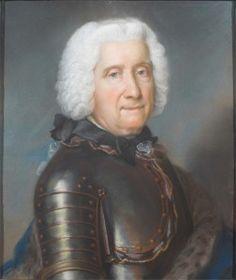 """Louis-Joseph d'Albert de Luynes, Prince de Grimberghen, Comte d'Albert, de Wertinghem et d'Arquennes (1672-1758), dit """"Prince de Grimbert"""". Lt.-Gal. des Armées de l'Électeur de Bavière. Il fut le second fils du 2e. Duc de Luynes, frère du 3e. Duc de Luynes et du Duc de Chevreuse, et de la fameuse Comtesse de Verrue."""