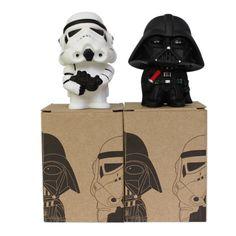 2017 2pcs/lot 10CM Q Style Star Wars Darth Vader & STORM TROOPER Action Figure Model starwars Toys kids Birthday gift