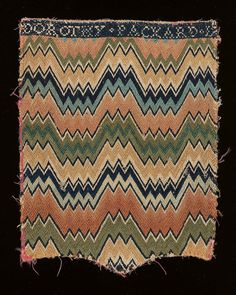 Pocketbook cover, 1750-1780, Museum of Fine Arts, Boston, 11 7/16 x 9 1/16 inches, accession number 62.508