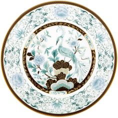 Lenox Marchesa Palatial Garden Accent Plate ($40) ❤ liked on Polyvore featuring home, kitchen & dining, dinnerware, white, round plate, colored plates, floral plates, lenox dinnerware and lenox plates